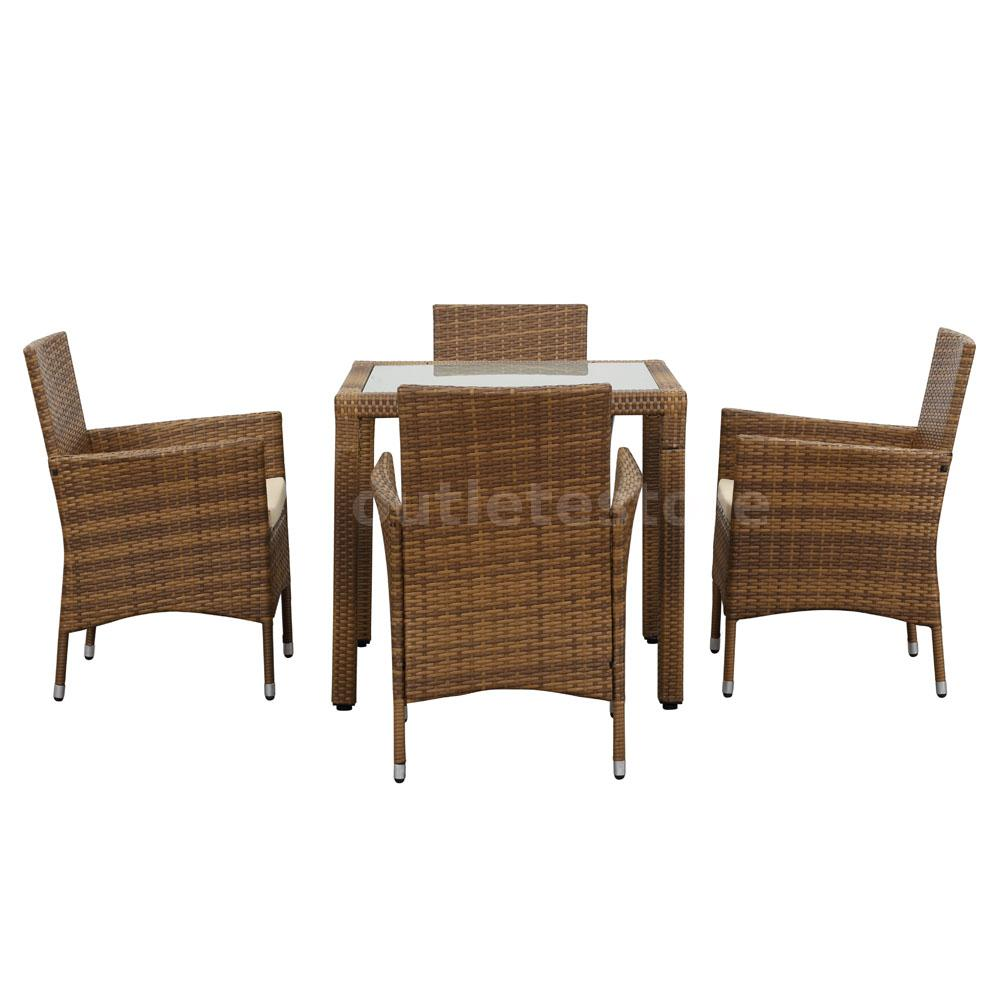 100 rattan patio table and chairs palm springs outdoor 4 pc