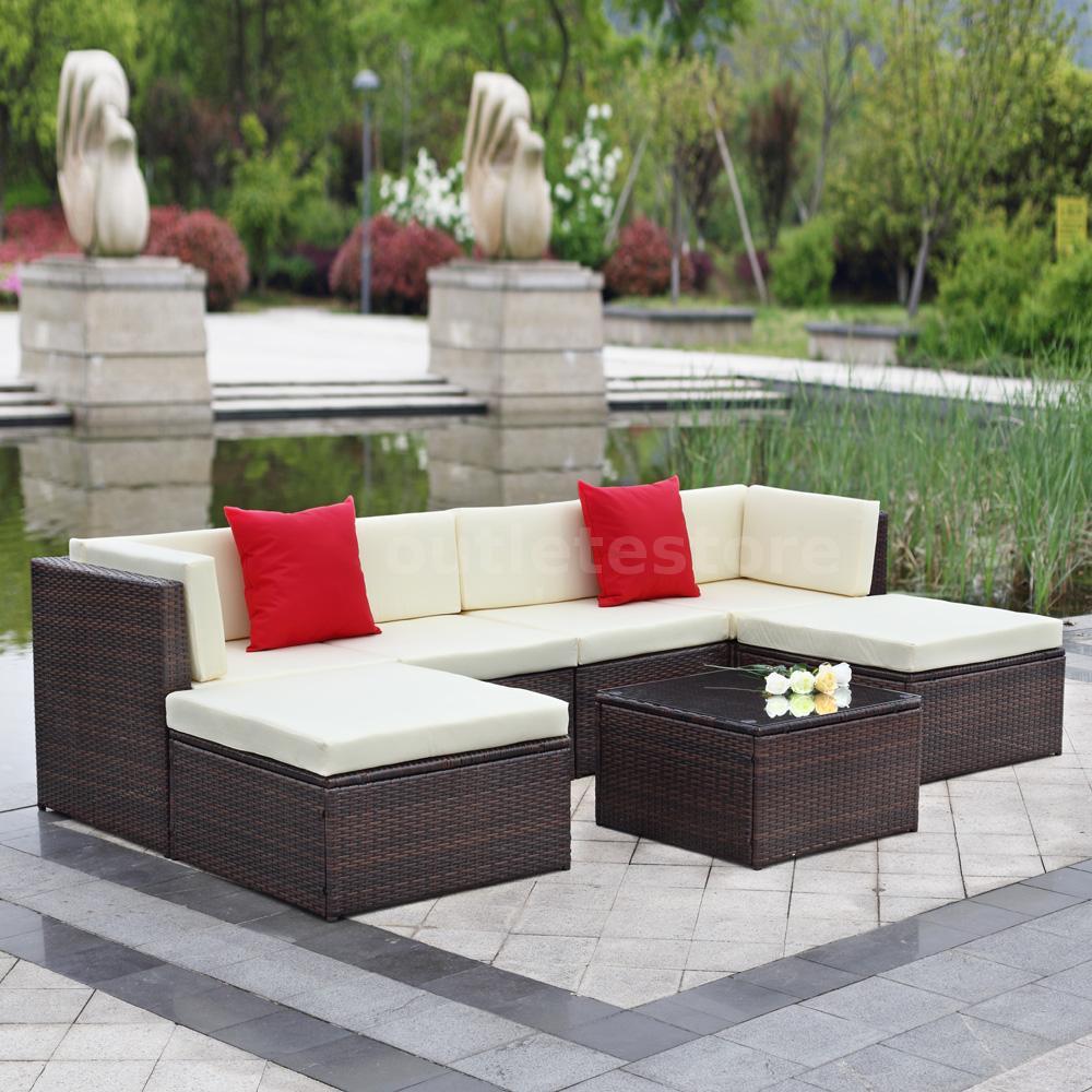 Rattan Sofa Sets Garden Furniture 4 Pcs Patio