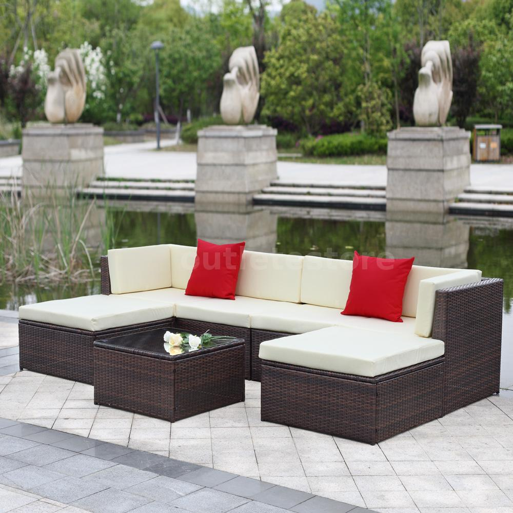 This Is A Fresh And Past Rattan Patio Sectional Sofa Set You Really Cannot Miss It Lies Thick Anti Rust Steels Pe Wicker Uv Protection