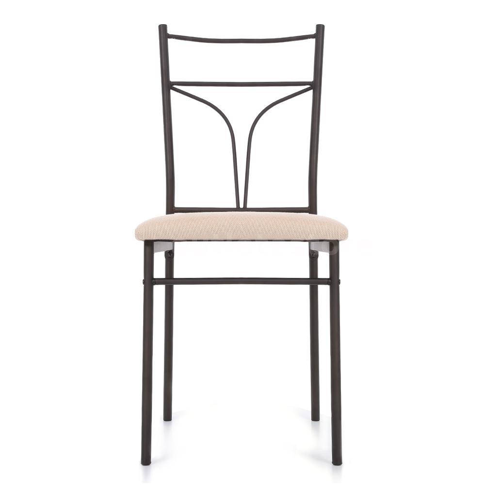 5 piece metal frame kitchen breakfast dining set 4 chairs for Dining chairs metal frame