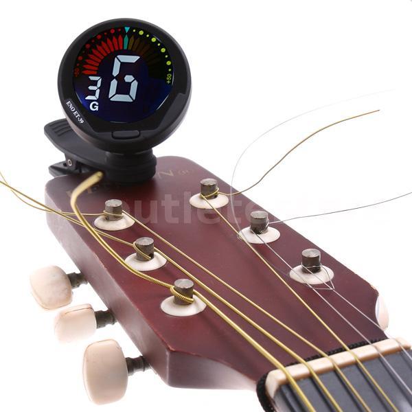guitar tuner auto clip chromatic guitar bass violin ukulele tuner hot gift i1n9 ebay. Black Bedroom Furniture Sets. Home Design Ideas