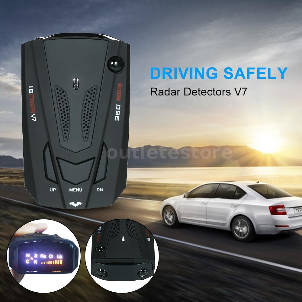 Car Radar Detector 16 Band Display Anti Pol i c e Speed Voice Alert Warning I6C7