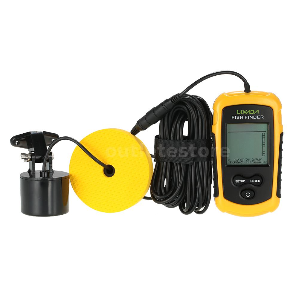100m portable sonar sensor fish finder fishfinder for Fish finder depth finder